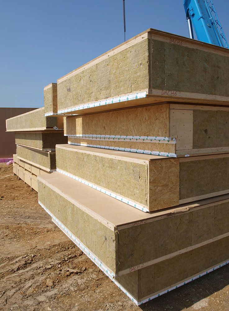 The Prefabricated Panels Are Somewhat Similar To Sips With Osb On The Interior Presumably The A Passive House Design Prefab Homes Structural Insulated Panels