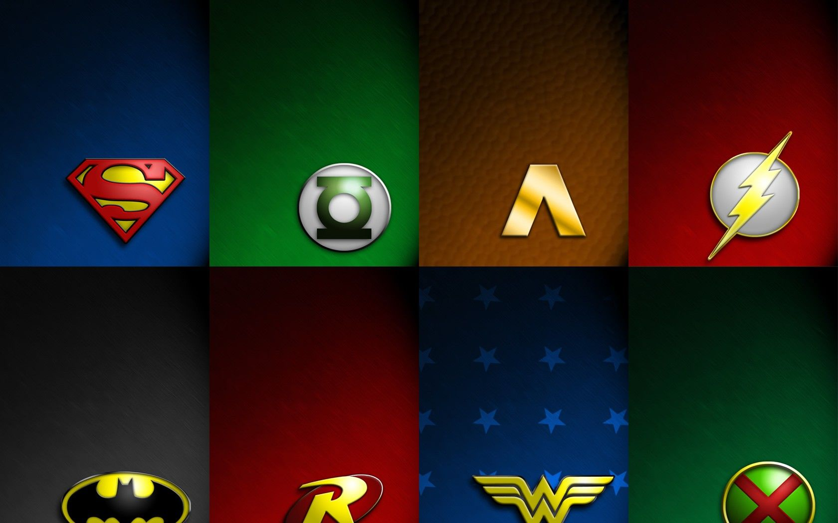 HD Wallpaper And Background Photos Of JLA Symbols For Fans DC Comics Images