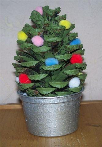 Weihnachtsbäumchen Aus Zapfen Zäpfchen Weihnachtsbäume Und Enkelinnen
