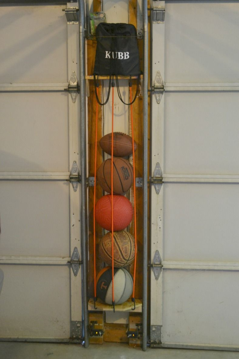 How To Organize Your Garage. This DIY Sport Ball Holder Will Help You To Be  Able To Organize Your Garage. Need To Organize Your Garage?