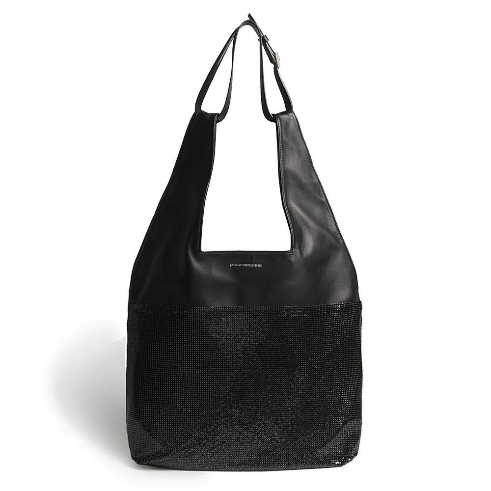 Mesh Hobo Bag Black Bags Calf