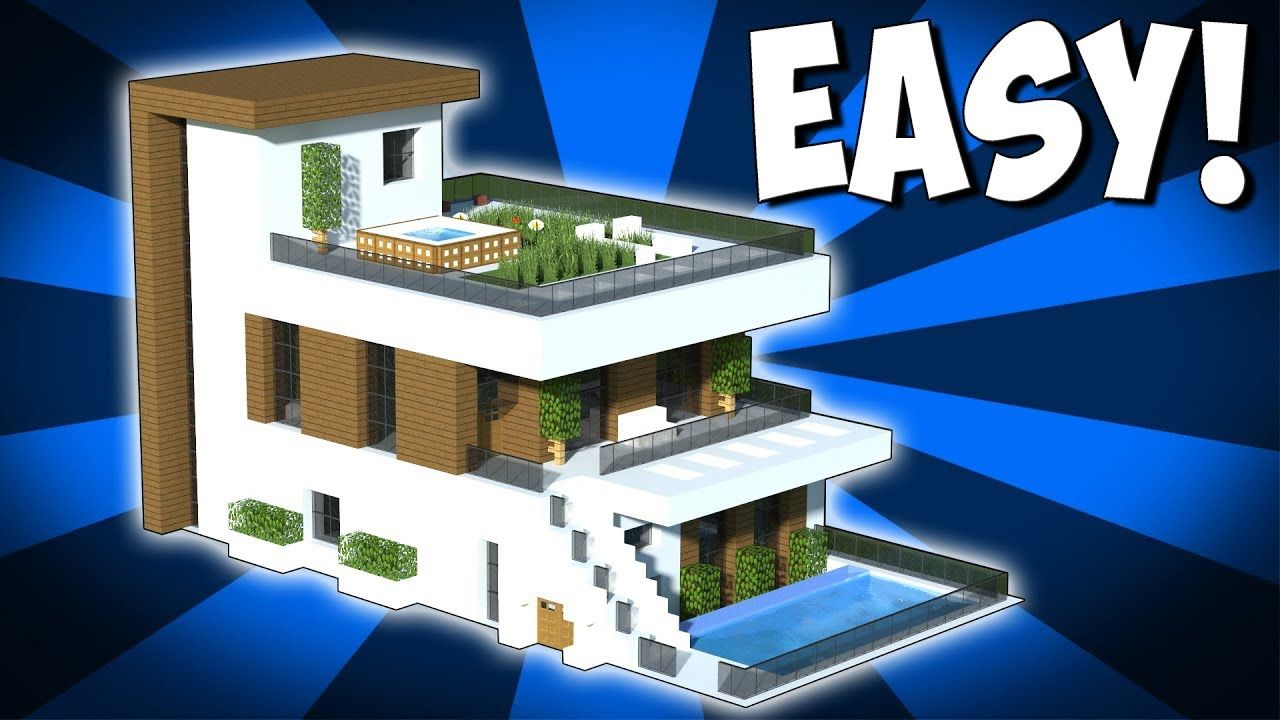 Minecraft How To Build A Large Modern House Tutorial 2018 Https Cstu Io 7756f6 Easy Minecraft Houses Minecraft Modern Minecraft House Designs