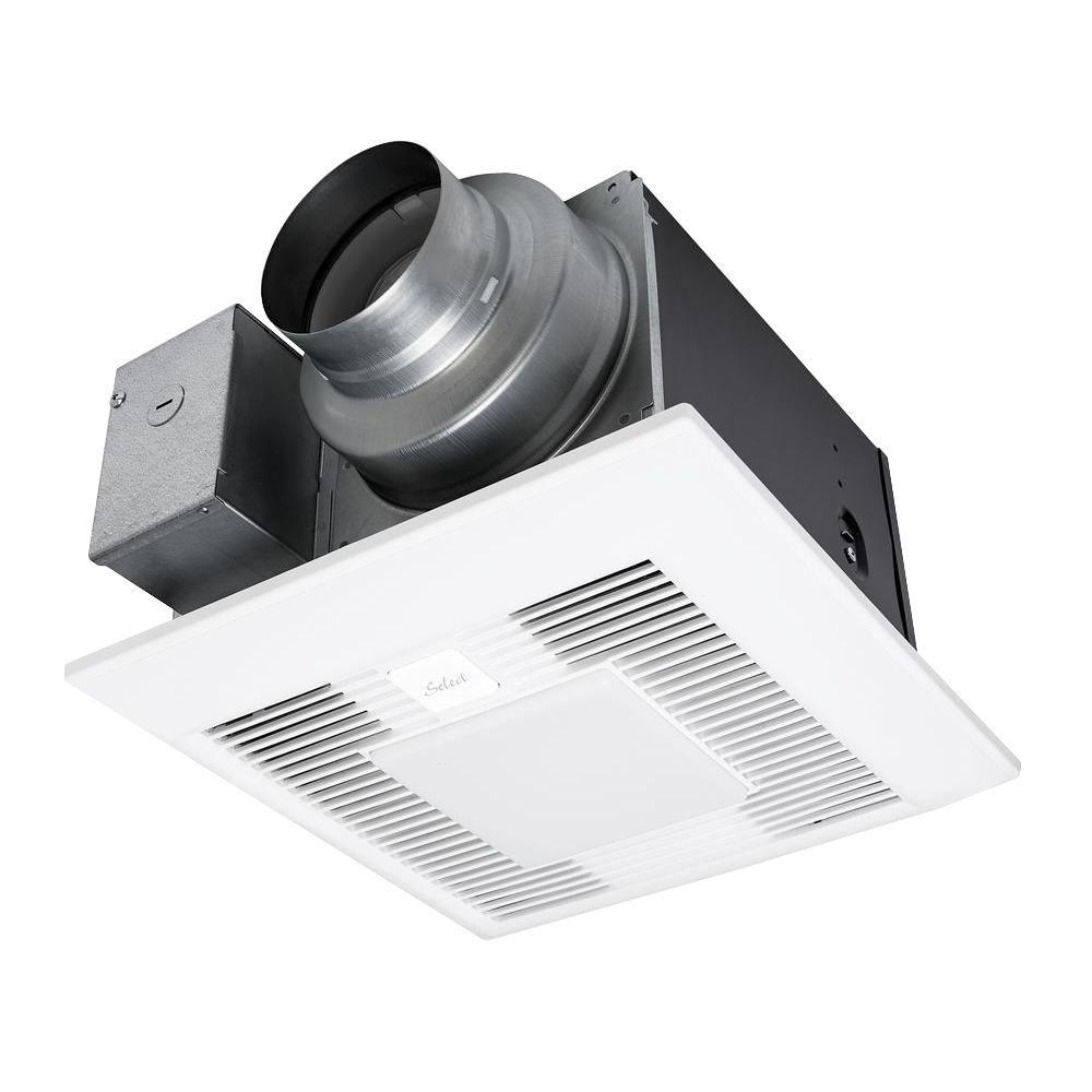 Whisper Green Select 50 80 110 Cfm Ceiling Exhaust Bath Fan With Led Light Energy Star Bath Fan Fan Light Bathroom Fan