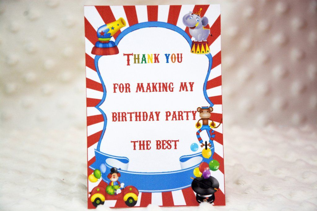 Circus Thank You Cards | Pinterest | Special guest, Circus birthday ...