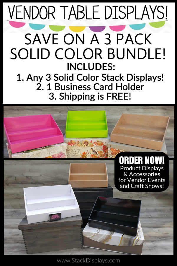 Bundles - Solid Color Displays Bundle   Vendor table, Business card ...