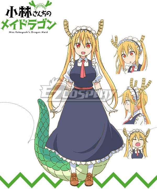 Miss Kobayashi S Dragon Maid Tohru Cosplay Costume B Edition Miss Kobayashi S Dragon Maid Kobayashi San Chi No Maid Dragon Dragon Girl