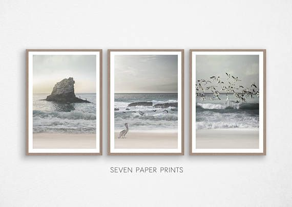 Set Of 3 Prints Downloadable Ocean Wall Art In Beach Photography