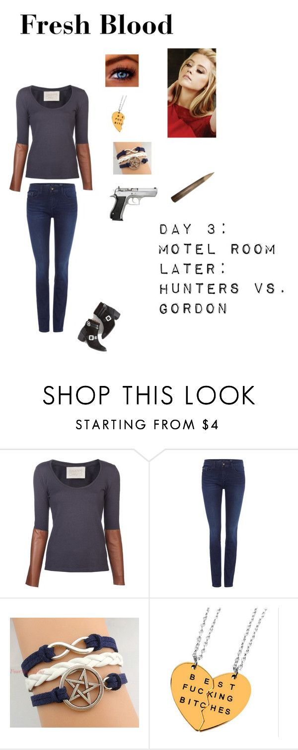 """""""SPN - S3E7 """"Fresh Blood"""" -  Kelsey Sanders"""" by nerdbucket ❤ liked on Polyvore featuring DULKINYS DAVIS and Calvin Klein"""