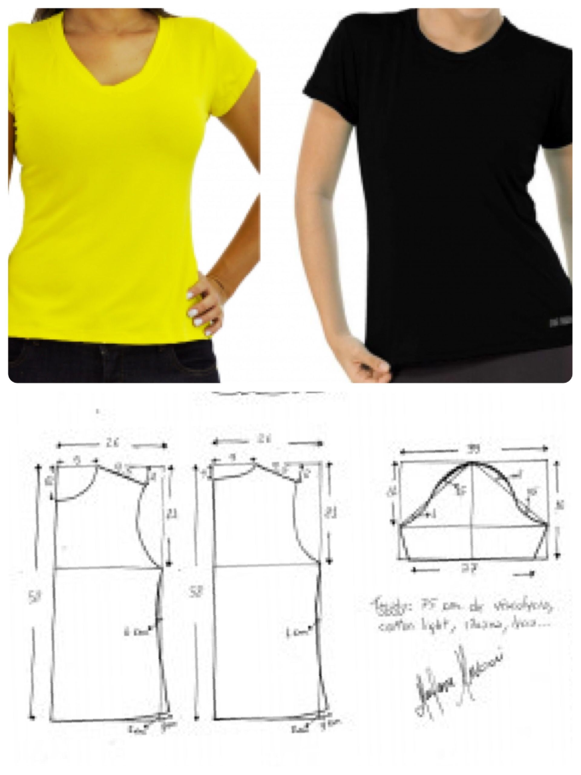 Remeras super simples | Corte y costura... | Pinterest | Sewing ...