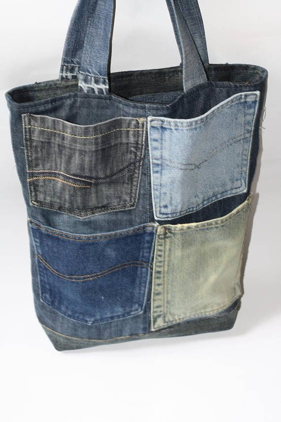 Denim bag, tote denim bag, denim bag, denim bag present, shoulder denim bag, jeans bag, blue denim bag