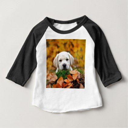 Autumn Labrador Baby T Shirt Labrador Retriever Puppy