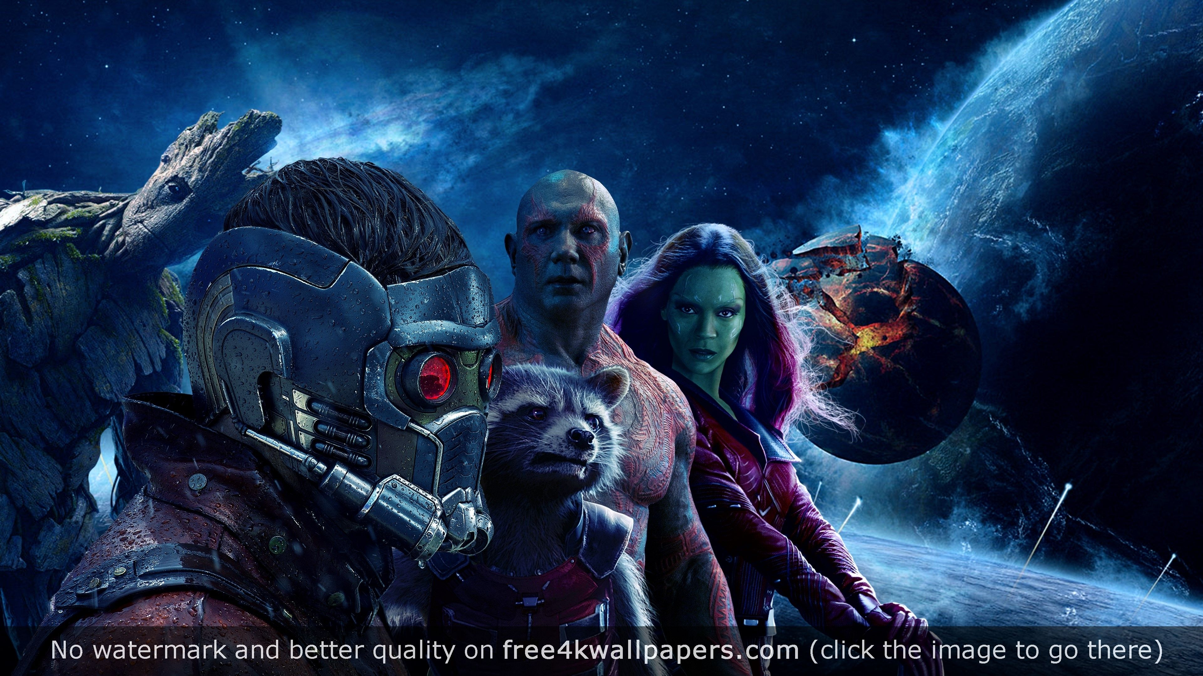 Guardians Of The Galaxy Vol 4k 4k Wallpaper Guardians Of The Galaxy Galaxy Hd Drax The Destroyer
