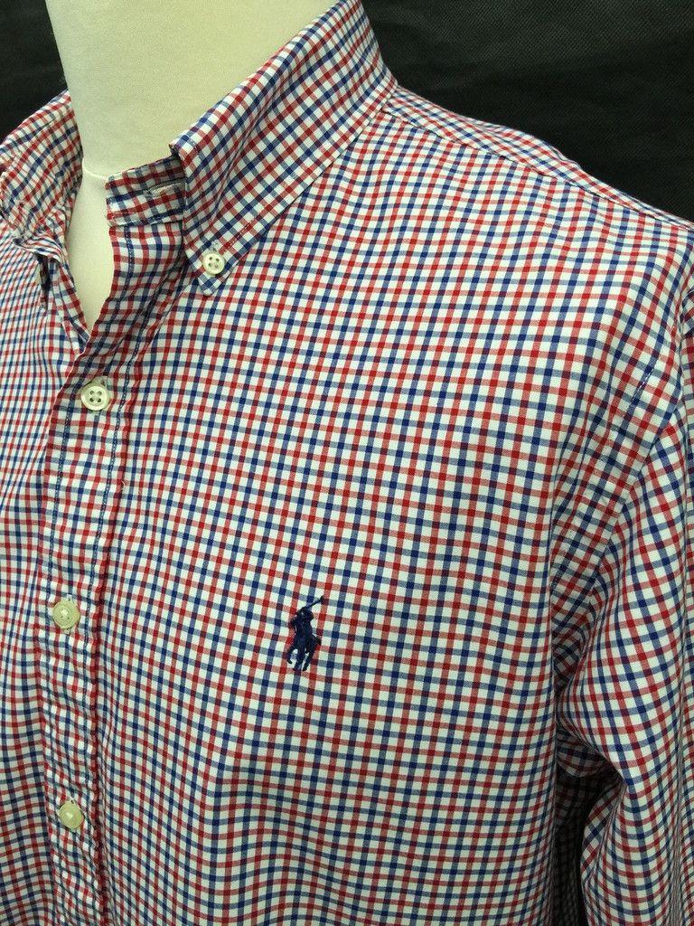 39dbfa02 Current Season #RalphLauren #Mens #Shirt / Large / Custom Fit / Red ...