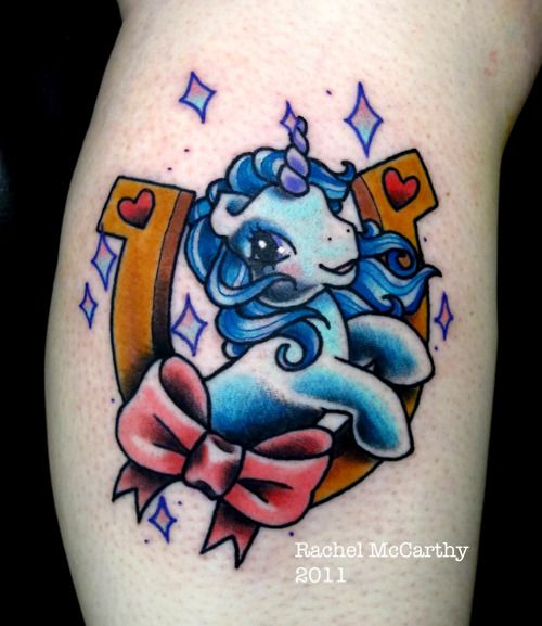 my little lucky pony tattoo