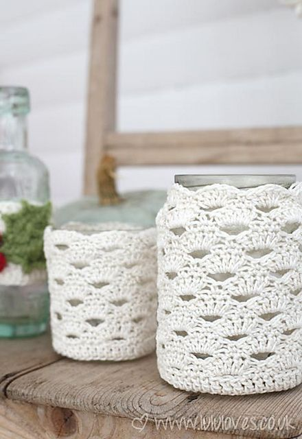 Ravelry: Crochet Jar Cover pattern by Emma Escott