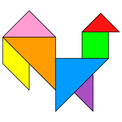 tangram rooster tangram solution 68 providing teachers and pupils with tangram puzzle activities
