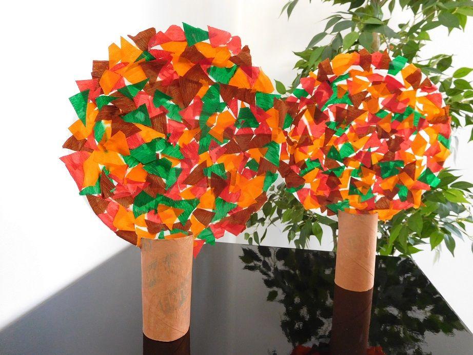Un arbre d'automne - Activité bricolage - La Fée Biscotte #bricolageenfantsautomne