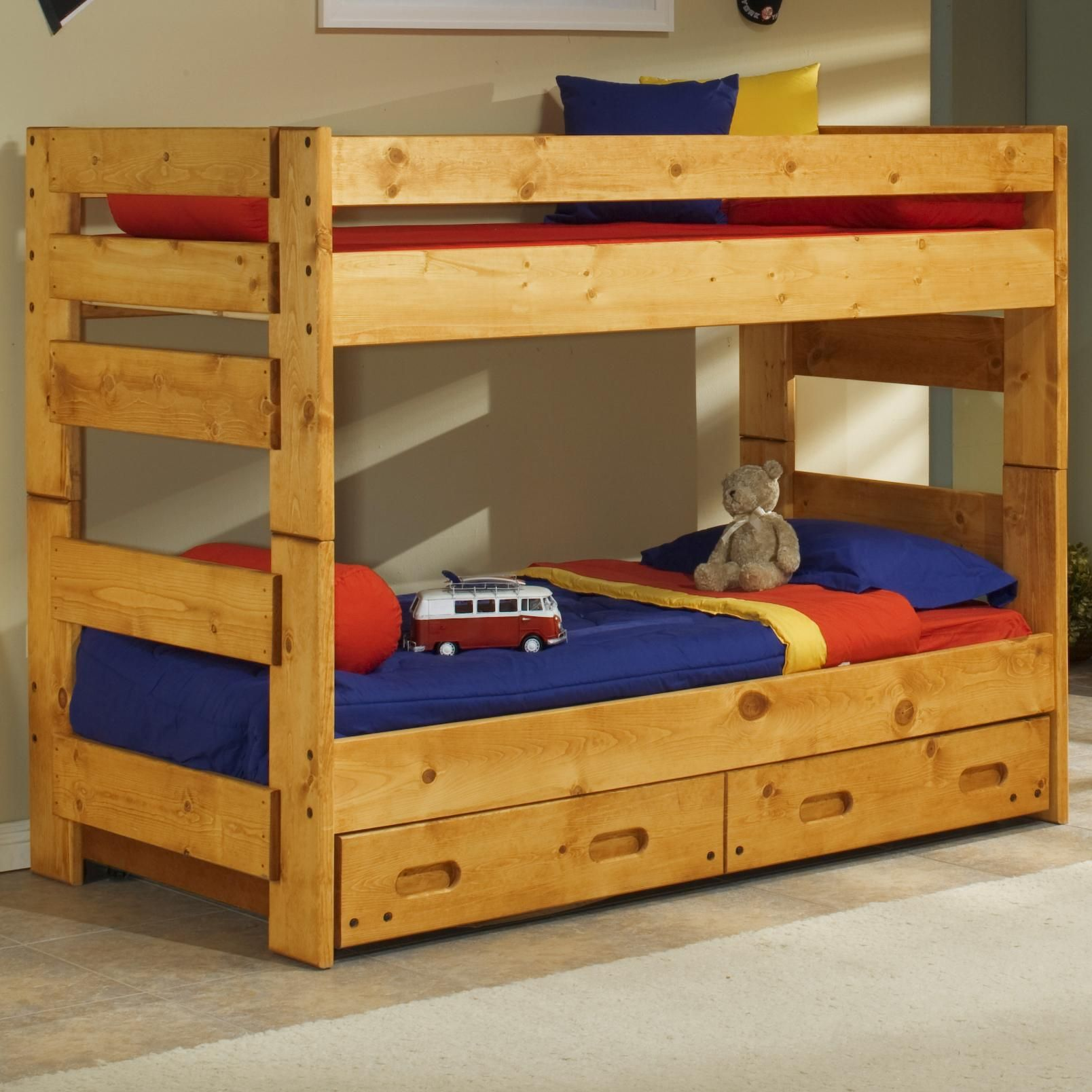 Loft captains bed twin  Bunkhouse TwinTwin Wrangler Bunk Bed by Trendwood  Youth  Pinterest