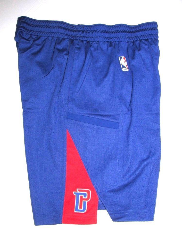 7094d7b671c Nike NBA Detroit Pistons Coaches Practice Shorts Mens M Tall Blue 874576  495  Nike  DetroitPistons
