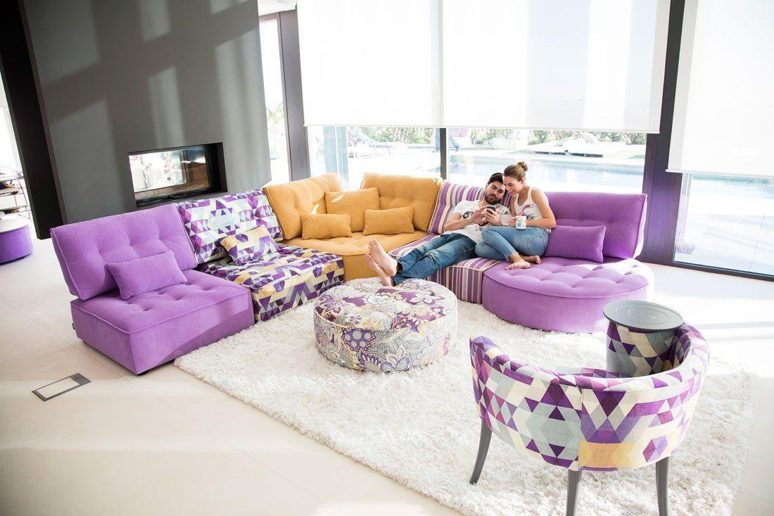 Sofa Cover Mah Jong style sectional sofa Arianne Love FamaLiving Montreal