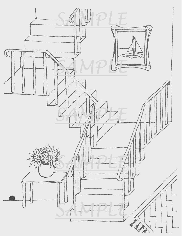 stairs coloring page - Tikir.reitschule-pegasus.co