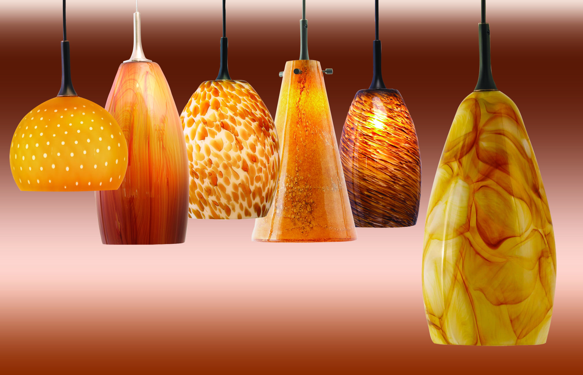 6 Nora Lighting Pendants In Peppy Orange Orange Pendant Light
