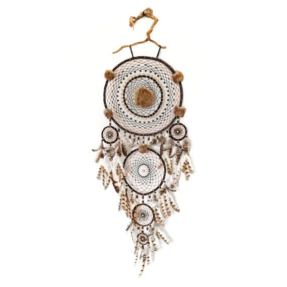 Dreamcatcher with owl feathers by GORGONAart on Etsy | Hold my ...