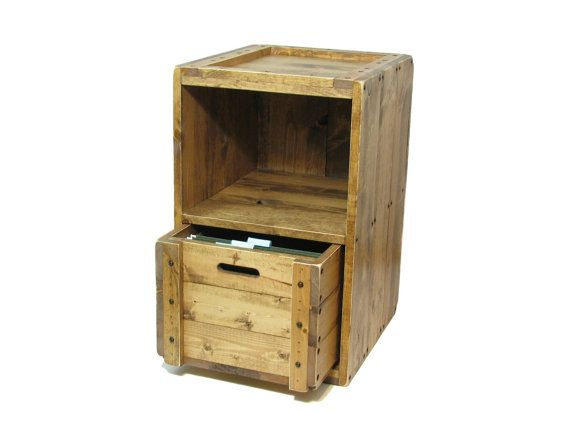 Rustic Filing Cabinet Solid Wooden Office Printer Stand Decorative Home File Cabinet Printer Cabin Printer Stand Rustic Filing Cabinets Wood Crate Furniture