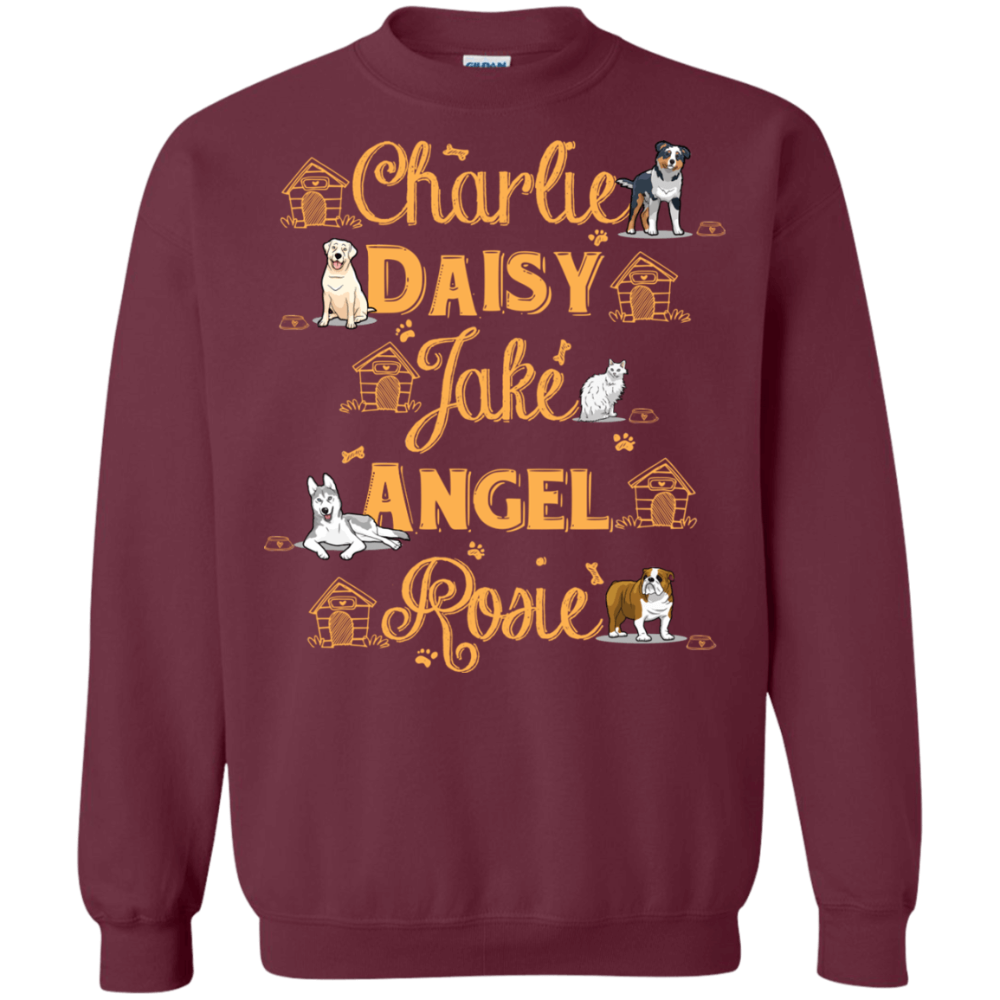 Pet Names Sweatshirt For Dog Lovers (With Images)