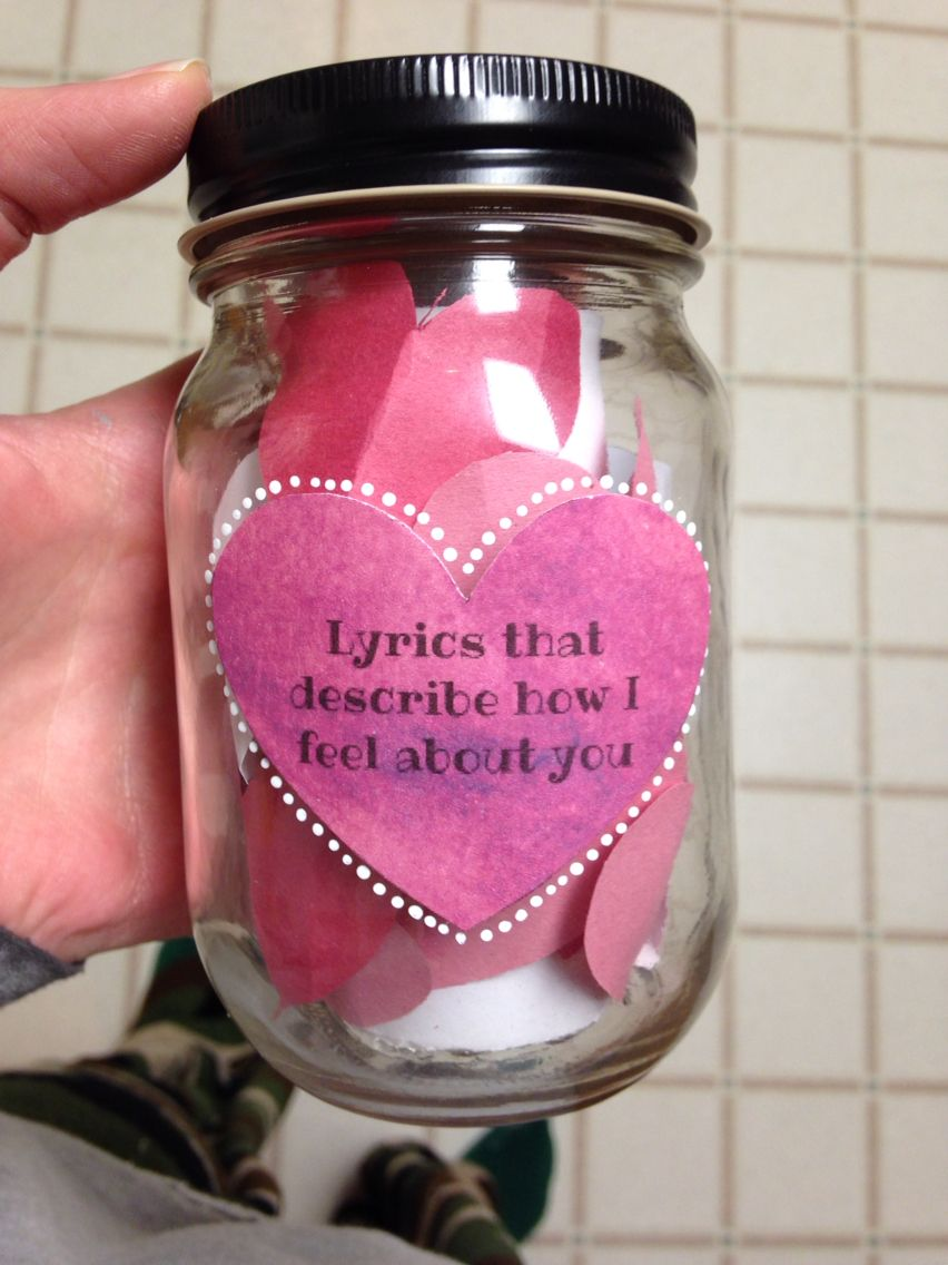 Lyrics That Describe How I Feel About You Mason Jar Diy Boyfriend Gift Mason Jar Diy Mason Jar Crafts Boyfriend Gifts Mason Jar Diy Cute Boyfriend Gifts