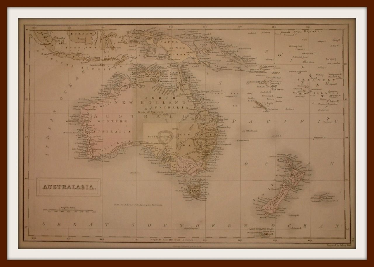 1859 OCEANIA and PACIFIC OCEAN extra large