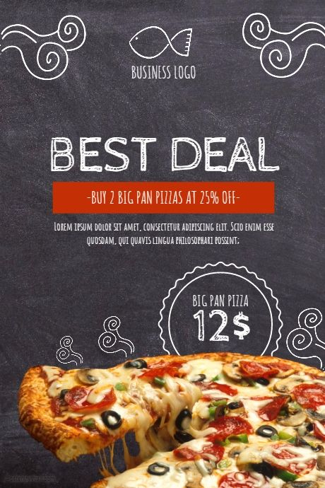 pizza flyer template postermywall free restaurant flyer