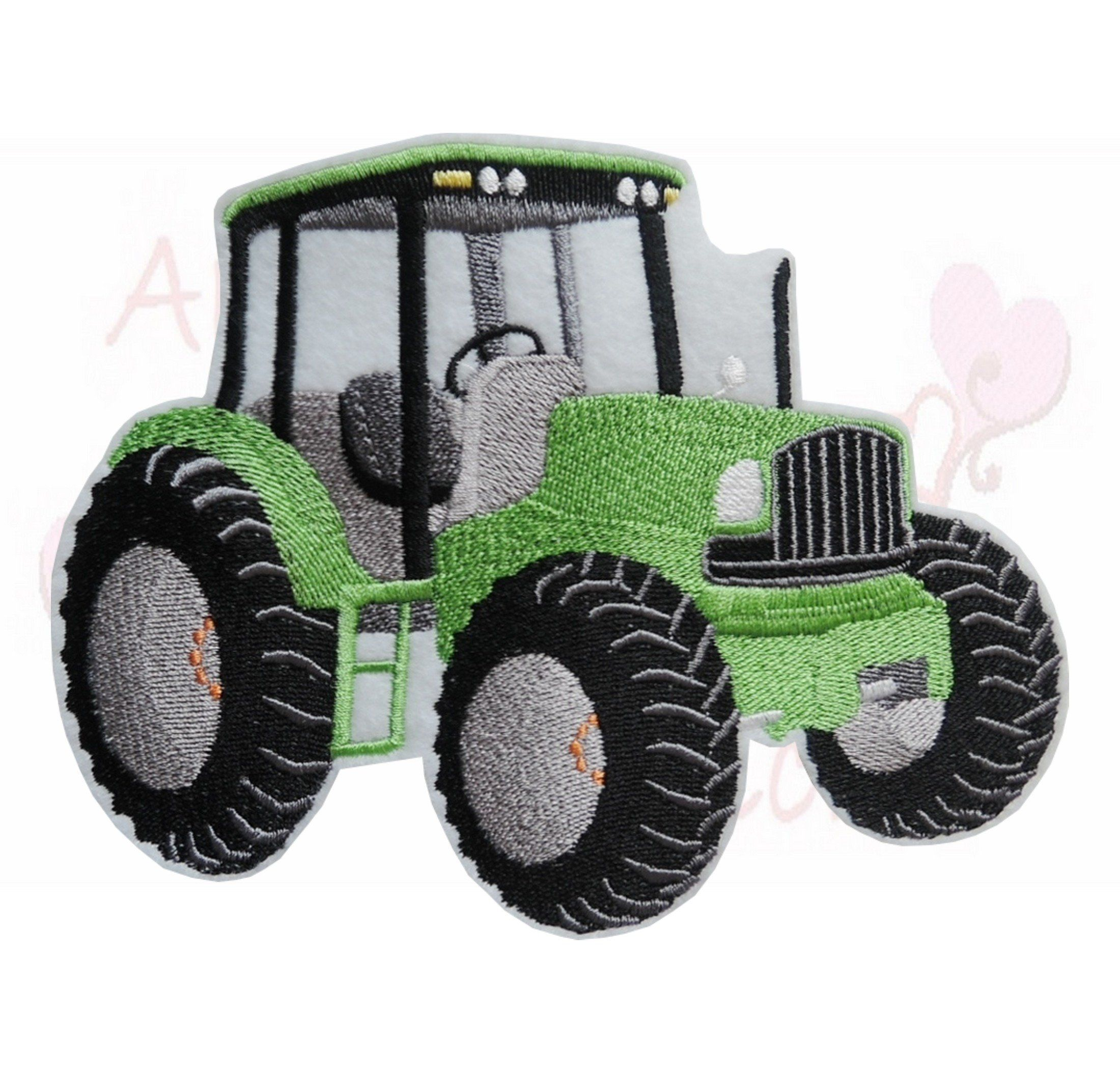 xl tractor trekker patch green iron ingescent application
