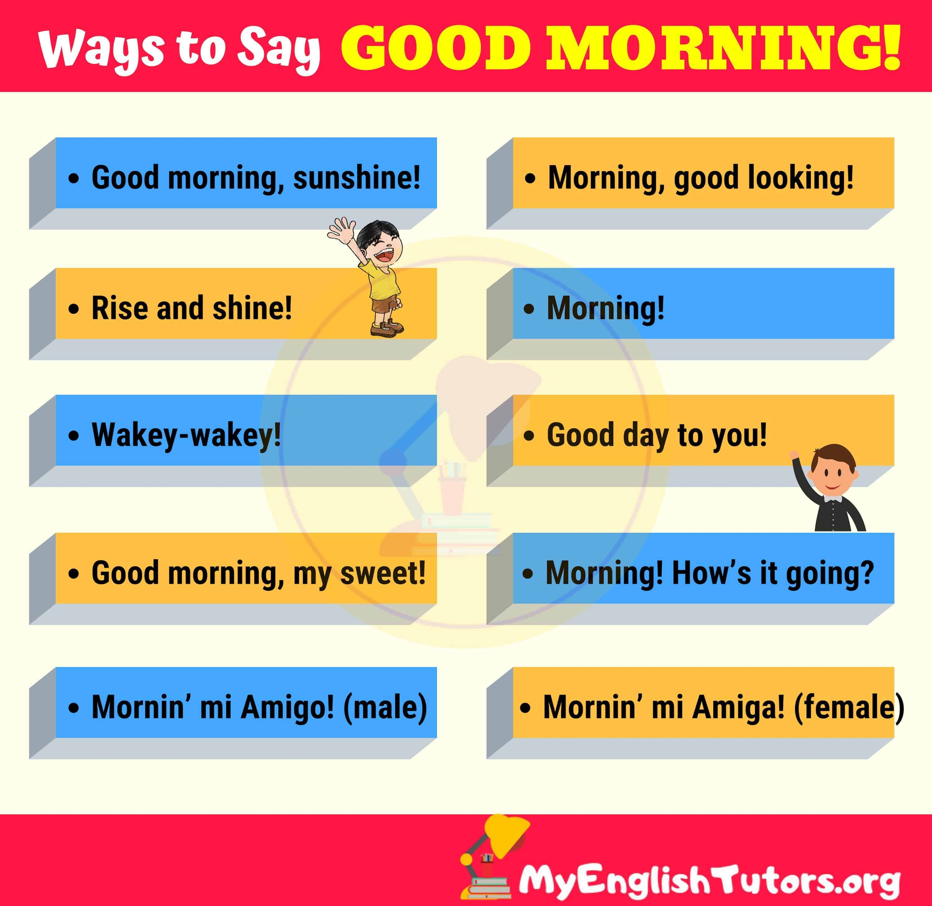 List of 10 creative ways to say good morning learn
