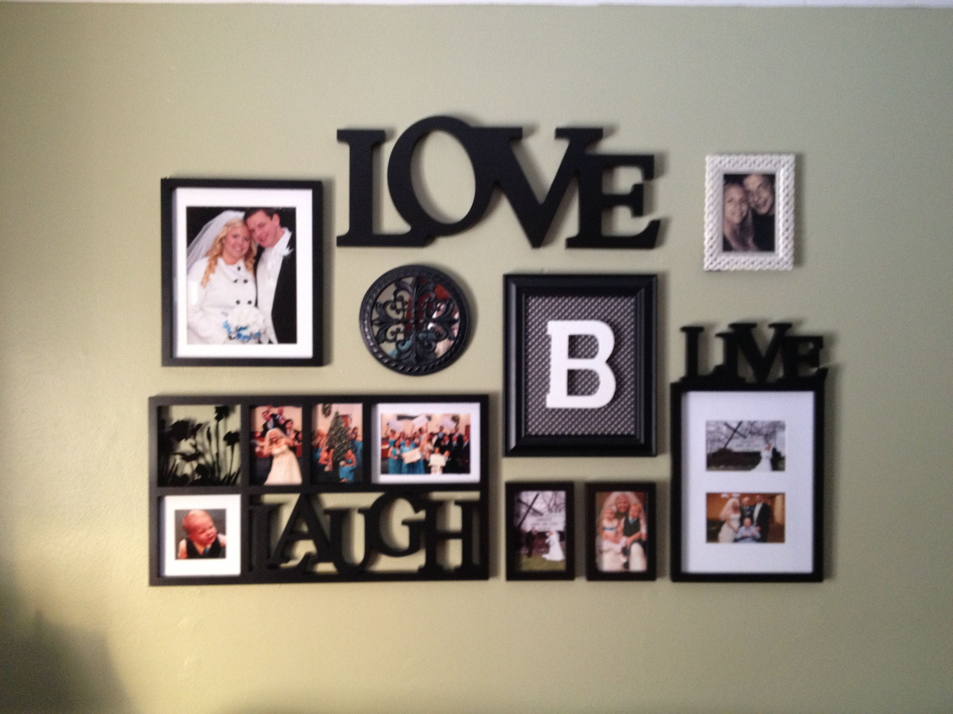 Cute picture frame collage | wall ideas | Pinterest