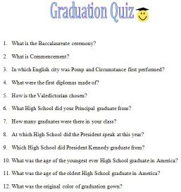 image about Free Printable Graduation Party Games identified as free of charge printable commencement routines Graduations: 2017