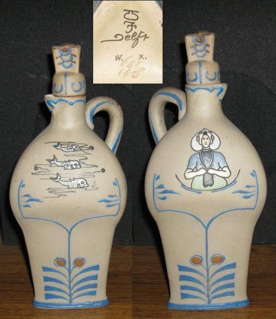 Old rare De Porceleyne Fles decanter