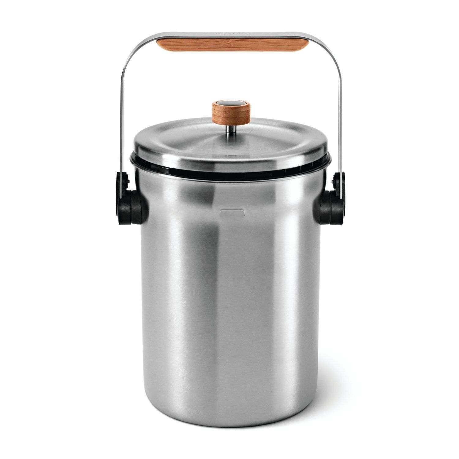 Simplehuman Compost Pail On Amazon 59 99 Can T Wait To Retire The Old Plastic Bin We Ve Been Using For Our Compost Pail Kitchen Trash Cans Compost Bucket