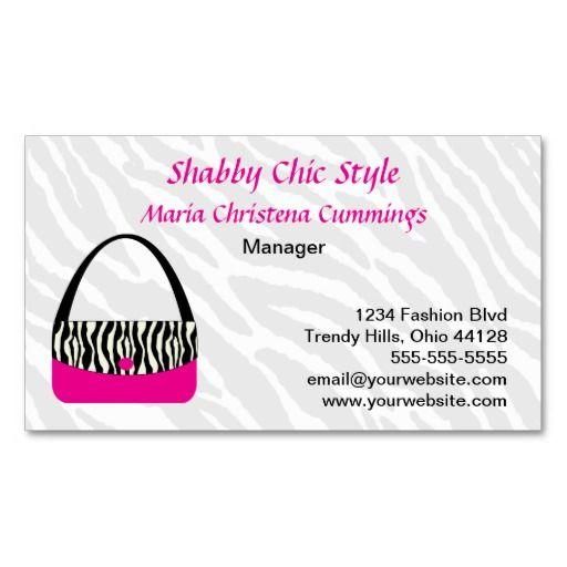 Custom Handbag Business Card