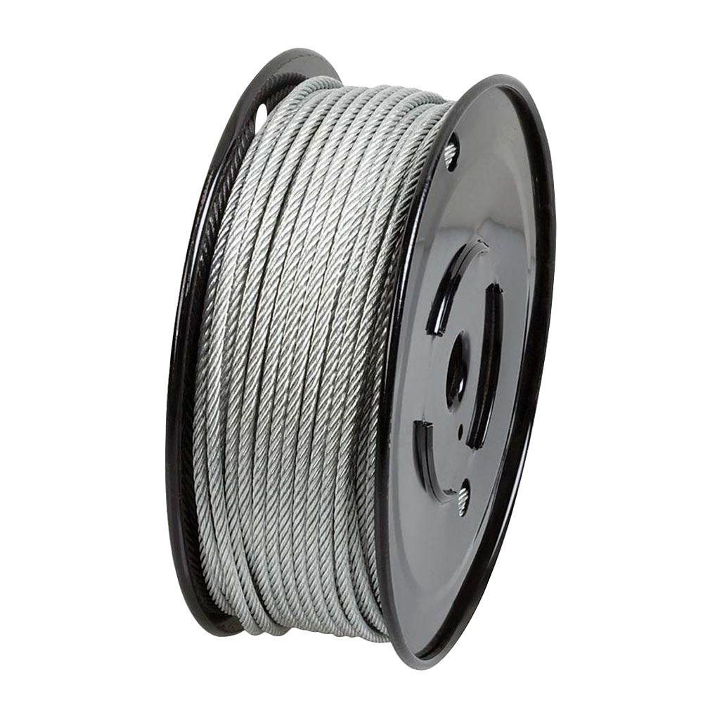 Everbilt 1 8 In X 500 Ft Galvanized Steel Uncoated Wire Rope 806340 The Home Depot Galvanized Galvanized Steel Rope Wire