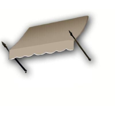 AWNTECH 6 ft. New Orleans Awning (44 in. H x 24 in. D) in Tan, Yellow