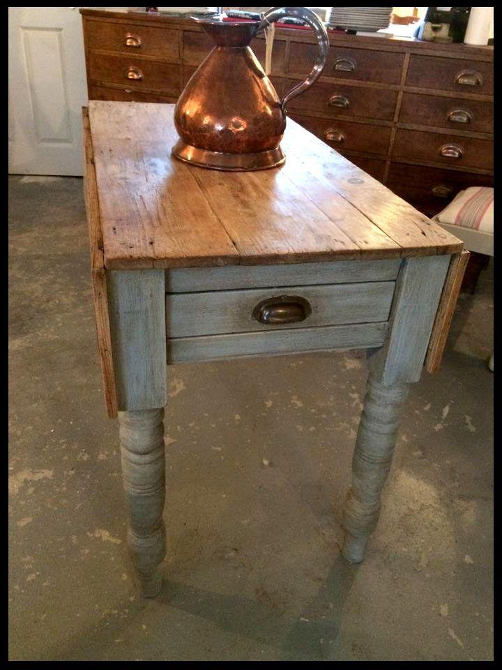 Antique Drop Leaf Farm House Rustic Table. #annaflorence #vintagefarmhouse