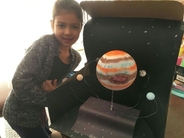 Jupiter Diorama With Its 4 Great Moons School Projects
