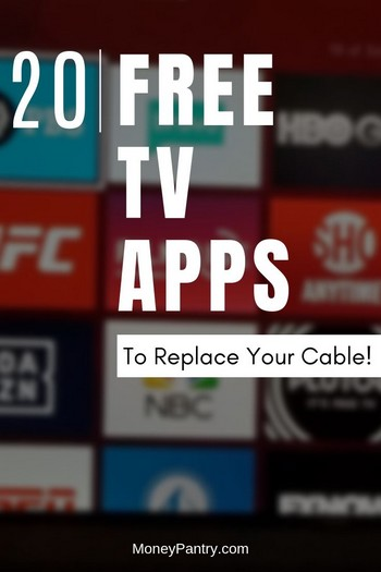 20 Free Tv Apps That Could Replace Your Cable Bill Moneypantry Tv Without Cable Tv App Free Tv And Movies