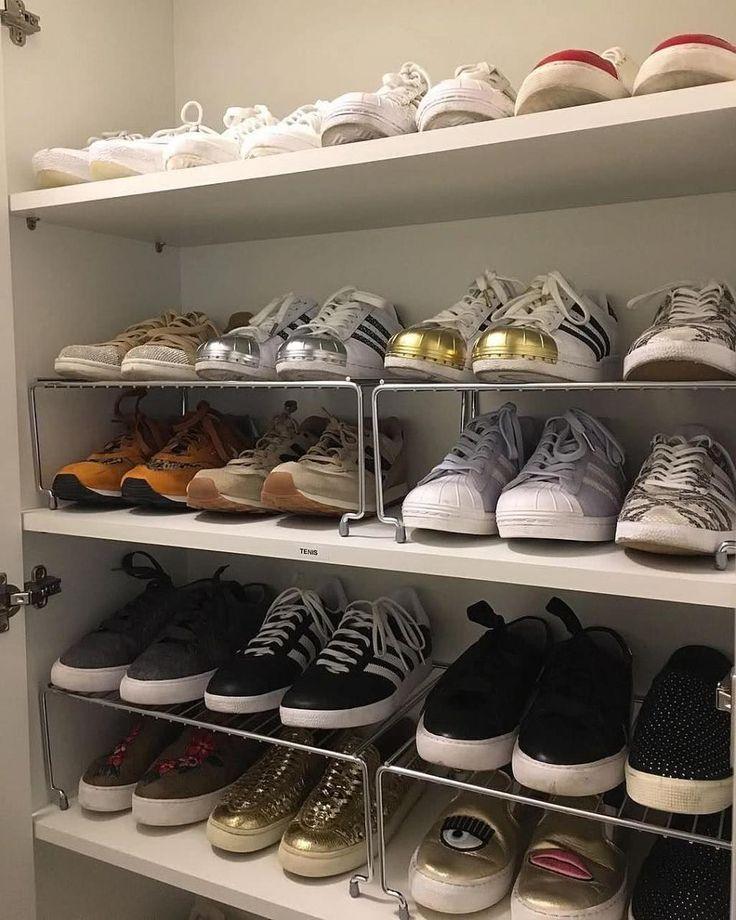 60 Ideen und Tipps wie man Schuhe organisiert