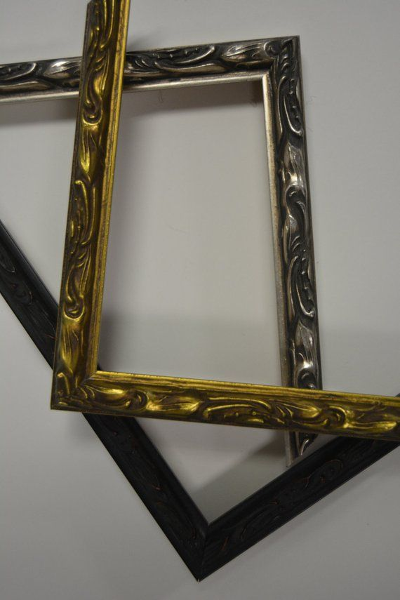 8x12 Metallic Gold Or Silver Frame One 8 By 12 Picture Frame In Gold Or Silver Custom Picture Frame Silver Picture Frames 12 Picture Frame