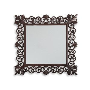 Bathroom Mirrors Bed Bath And Beyond iron bathroom mirrors | square mirror with cast iron frame - bed