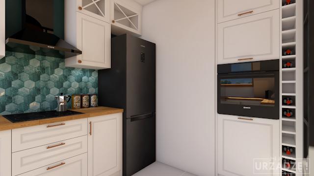 Najbardziej Przystepny Blog Wnetrzarski W Sieci Biuro Projektowe Klasyczna Kuchnia Z Petrolem Zdjecia Z Realizacji Home Decor Kitchen Cabinets Home