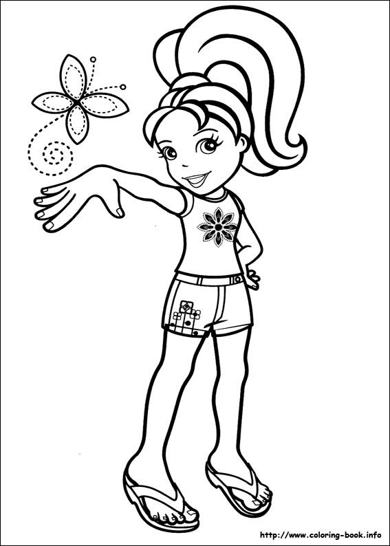 Polly Pocket Coloring Picture Polly Pocket Butterfly Coloring