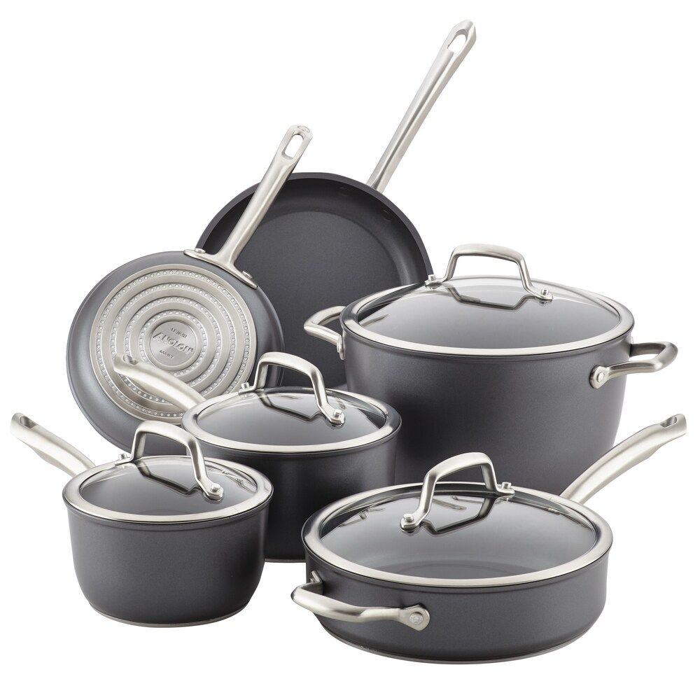 Anolon Accolade 10 Pc Hard Anodized Precision Forge Cookware Set